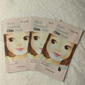 ♥️5/$15 (3) Etude House Black Charcoal Chin Pack